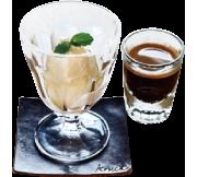 フランス産バニラアイスのアフォガード
